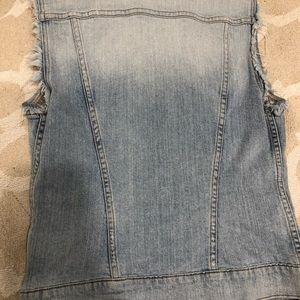 J Brand Tops - J BRAND- Faith- destructed light denim Vest